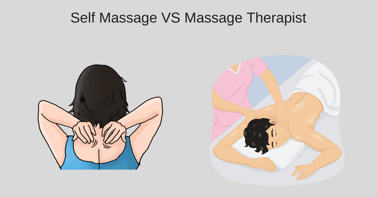 self massage versus massage therapist
