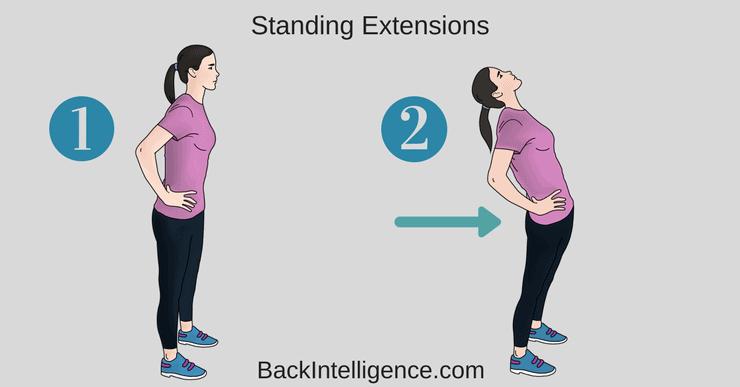 Standing lumbar extension