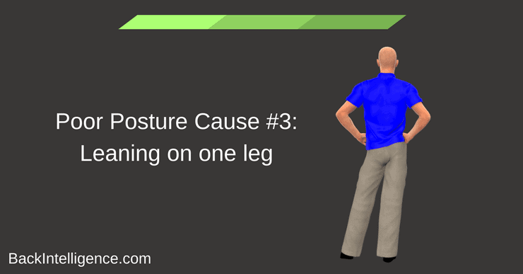 Leaning on one leg posture