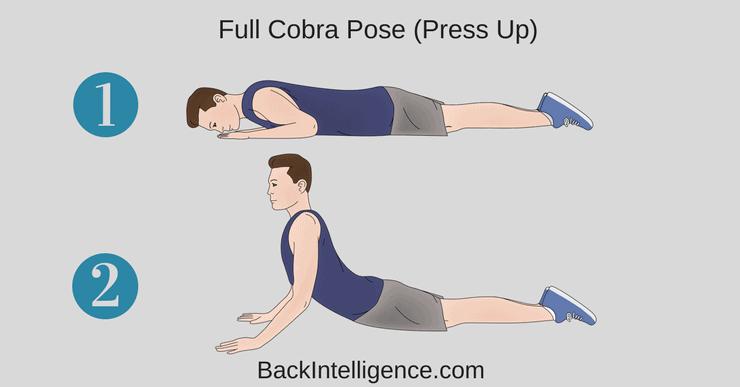 Full Cobra Pose herniated disc stretch