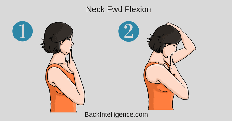 Neck Flexion for Suboccipital muscle