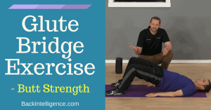 Glute bridge exercise