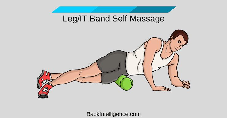Side of leg massage and IT Band massage