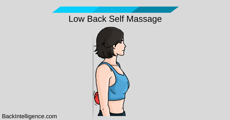 Low back pain self massage