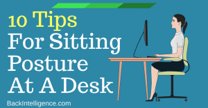 proper sitting posture at a desk
