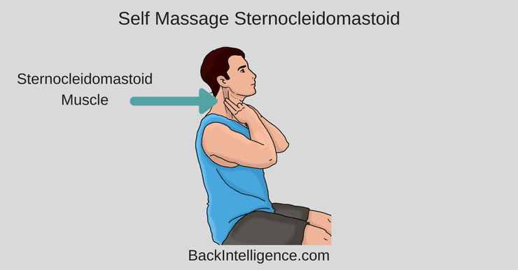 get rid of neck pain with Sternocleidomastoid massage
