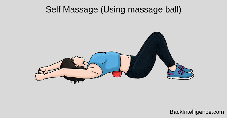 self massage lower back