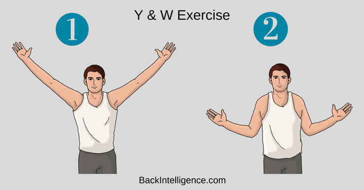 Stretch upper back for back pain