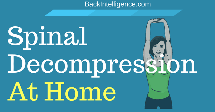 Spinal decompression therapy at home