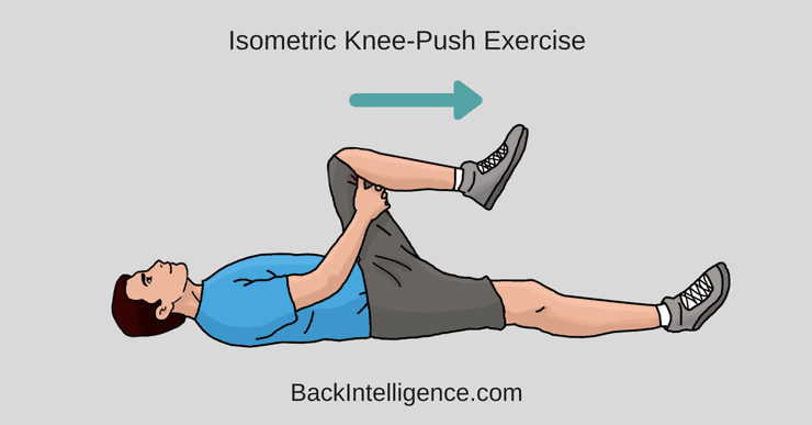 isometric knee push