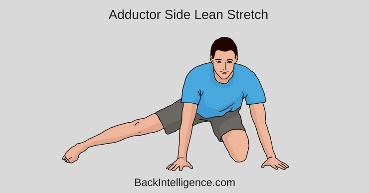 Adductor stretch to one side