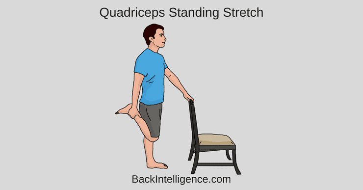 Quadriceps standing stretch