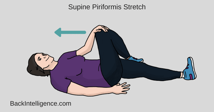 Supine piriformis stretch