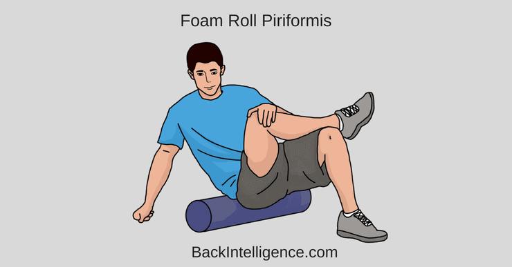 Piriformis muscle foam rolling