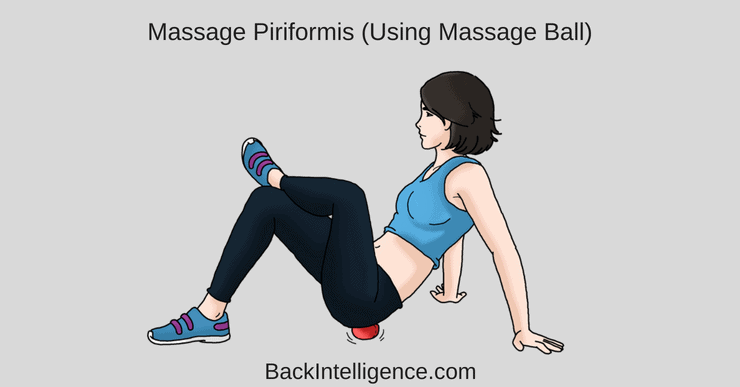 Self massage ball for piriformis