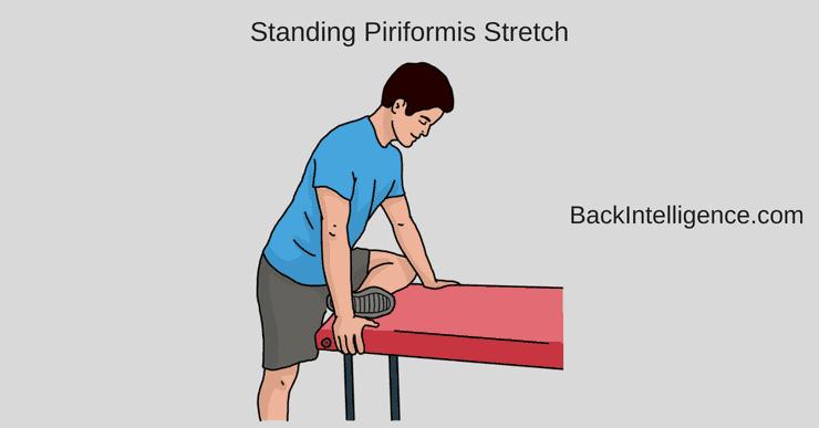 Standing piriformis stretch