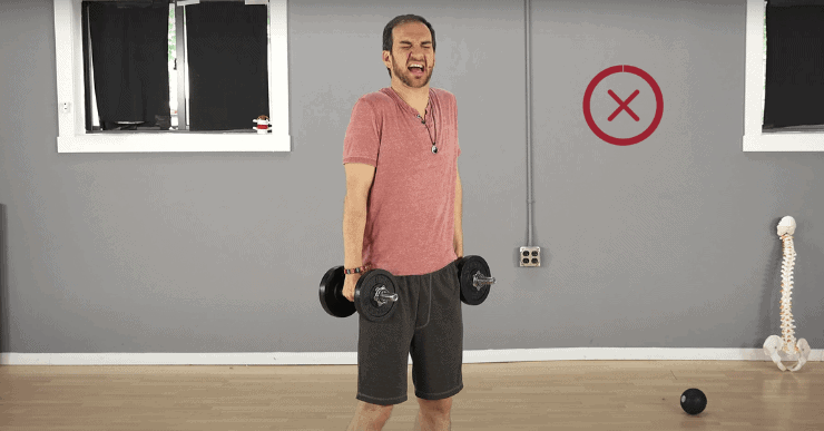 Shoulder Shrug - 3 Exercises That Are Bad for Your Back