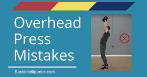 Shoulder press mistakes