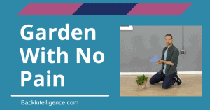 Gardening without back pain